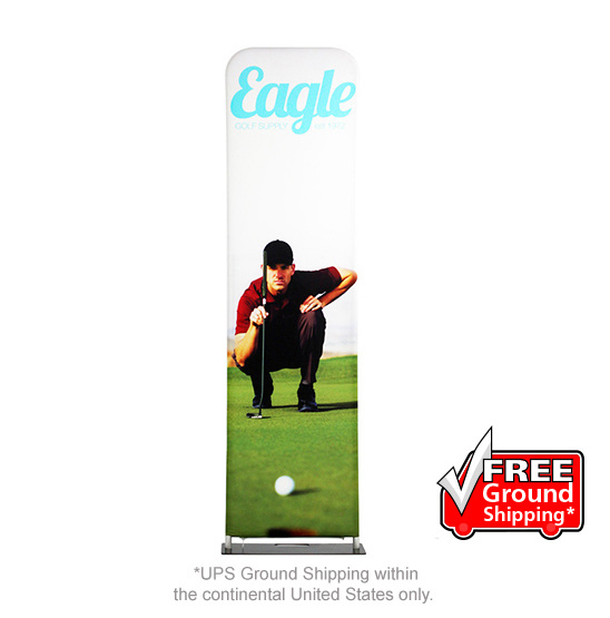 x 9.5 ft 3 ft Personalized EZ Extend Single-Sided Graphic Package with BLACK Back Fabric